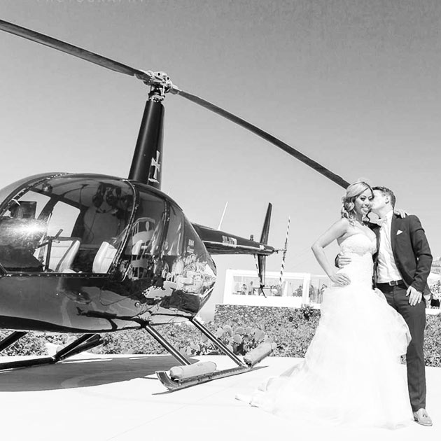 helicopter services santorini wedding restaurant pyrgos 1