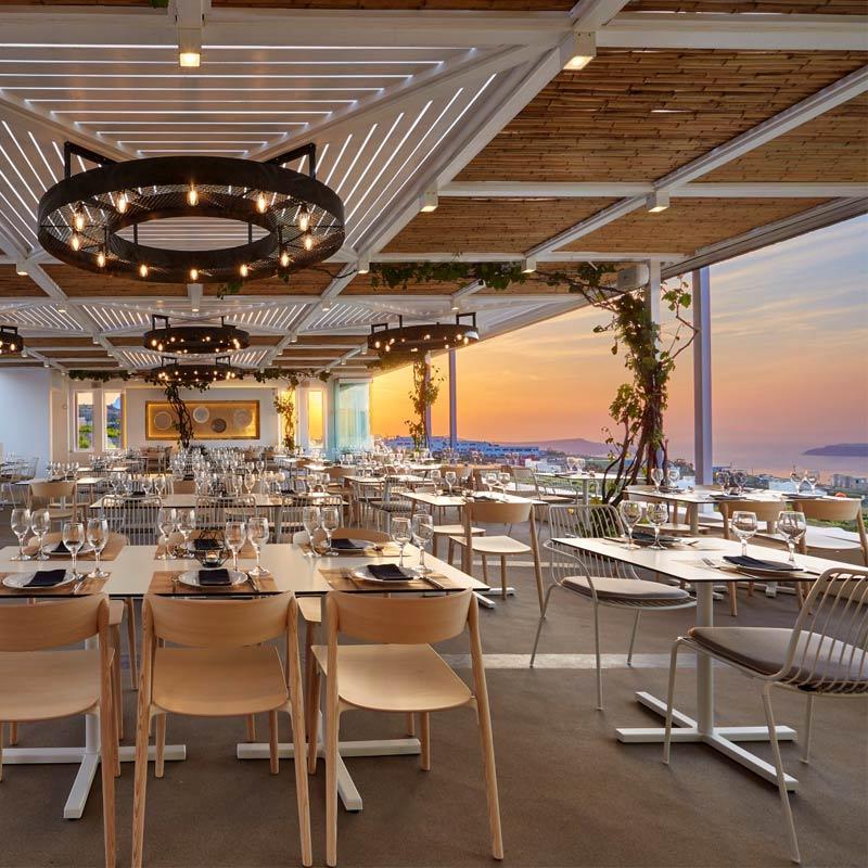 pyrgos restaurant santorini garden